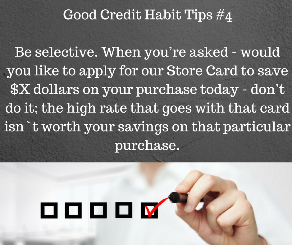 Good Credit Habit Tips #4: Store Cards